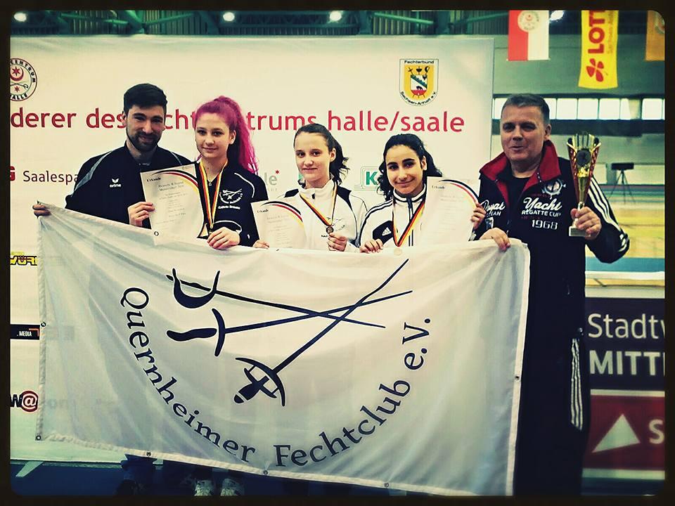 Erfolgreiche QFC Fechterinnen bei Deutscher B-Jugend Meisterschaft
