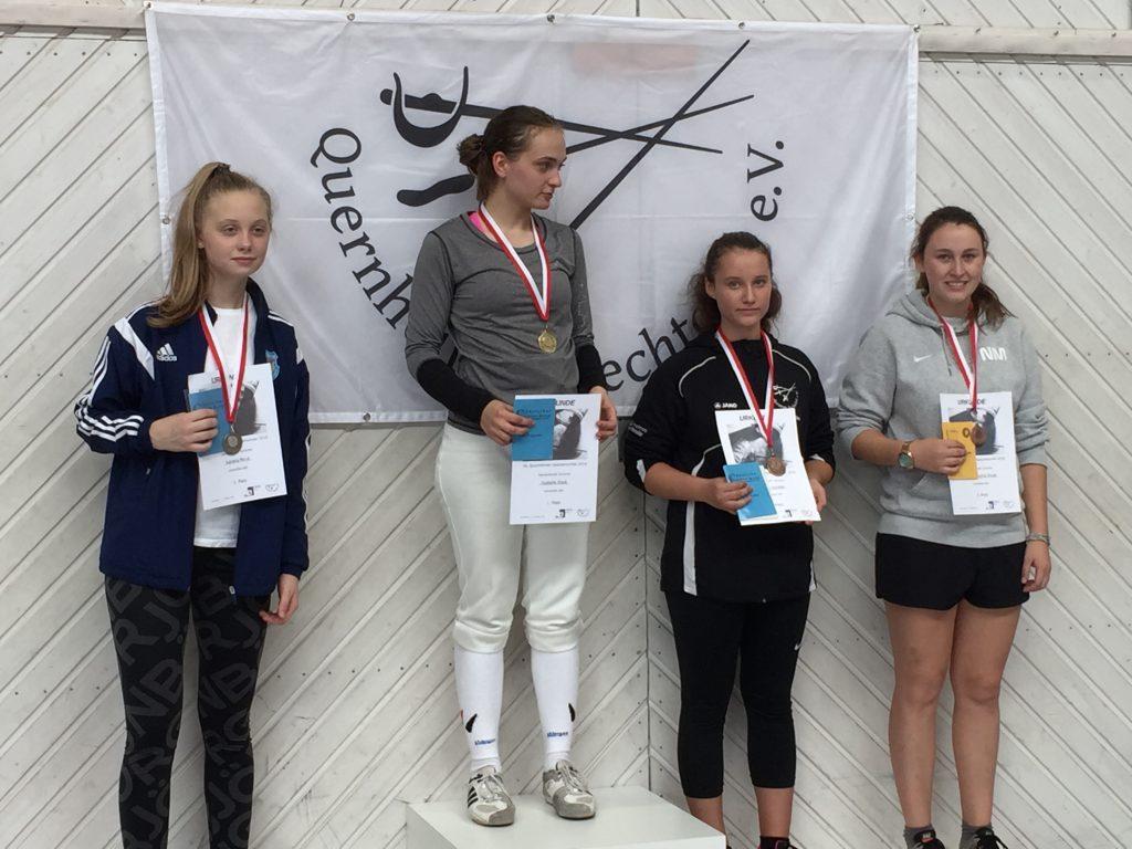 Siegerehrung Damenflorett Junioren